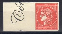 """FR 2019 / 1t """" CERES à 1 € Bord De Feuille  """" Issu Du Livre """" La Cérès """" VENDU Au Salon D'automne-novembre 2019 Neuf Xx - Unused Stamps"""