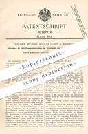 Original Patent - Theodor Michael August Lührs , Hamburg , 1900 , Fassreifenantreibmaschine   Fass , Fässer , Bierfass - Historische Dokumente