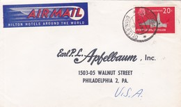 NEDERLANDS ANTILLES ENVELOPE, CIRCULATED 1963 HARUBA TO PHILADELPHIA, U.S.A.. BY AIRMAIL -LILHU - Antilles