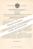 Original Patent - Richard Francis Marsh , East Maitland , Australien , 1899 , Dichtung Für Laufrad Von Dampfturbine !!! - Historische Dokumente