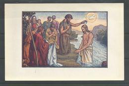Oude Heilige Kaart Stijl Jos Speybrouck.  Mark., 1, 11. - Jésus