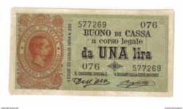 1 Lira UMBERTO I° Serie 076 09 11 1895 Angoli Smussati E Forellino Di Spilla Ottimo Bb+ LOTTO 1410 - Italia – 1 Lira