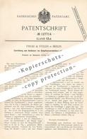Original Patent - Fricke & Stiller , Berlin , 1901 , Ausblasen Der Dampfwasserableiter Mit Schwimmtopf   Ventil !! - Historische Dokumente
