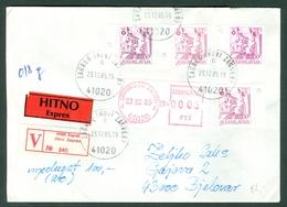 Yugoslavia 1983 Definitive Issue Michel 1999 A & C Difference In Colour And Paper Sarajevo Letter Cover Meter Stamp - 1945-1992 Repubblica Socialista Federale Di Jugoslavia