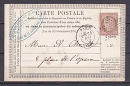D104/ CERES N° 58 SUR CARTE LETTRE - 1871-1875 Cérès
