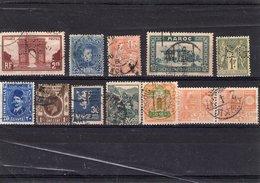 Perforés,perfins, 12 Timbres Perforés De Différents Pays, Oblitérés.Petit  Prix. - Stamps