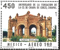 J) 1978 MEXICO, FOUNDING OF CHIAPA DE CORZO, CHIAPAS, 450TH ANNIVERSARY, MOORISH FOUNTAIN, SCOTT C555, MN - Mexico