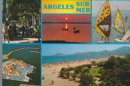 C. P. - PHOTO - ARGELES SUR MER - MULTIVUES - 5 VUES - APA POUX - - Argeles Sur Mer