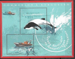 TAAF , FRENCH ANTARCTIC, 2020, MNH, MARINE  LIFE, CETACEANS, DOLPHINS, WHALES,  BOATS, S/SHEET - Balene
