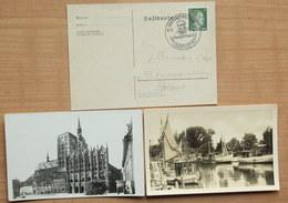 3 X Rostock 2 Karten 1 X Stempelbeleg Auf Karte - Rostock
