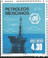 J) 1978 MEXICO, OIL INDUSTRY NATIONALIZATION, 40TH ANNIVERSARY, OFFSHORE OIL RIG., SCOTT C557, MN - Mexico
