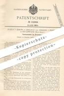 Original Patent - Julius T. Edson , Chicago , Charles J. Peabody , Englewood , New Jersey   Behälter Für Streichhölzer - Historische Dokumente