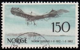 NORWAY - Scott #405 Norwegian Aviation, 50th Anniv. / Used Stamp - Norway