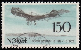 NORWAY - Scott #405 Norwegian Aviation, 50th Anniv. / Used Stamp - Noorwegen