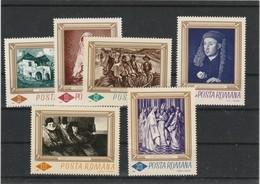 ROUMANIE    - THEME TABLEAUX   JOL LOT DE 6 VALEURS - Variedades Y Curiosidades