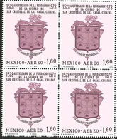 J) 1978 MEXICO, BLOCK OF 4, 400TH ANNIVERSARY OF THE FOUNDING OF SAN CRISTOBAL DE LAS CASAS, CHIAPAS, BY DIEGO DE MAZARI - Mexico