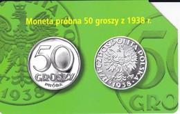 TARJETA DE POLONIA DE UNA MONEDA DE 50 GROSZY (COIN) - Postzegels & Munten