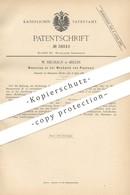 Original Patent - W. Neuhaus , Berlin , 1886 , Mechanik An Piano   Klavier , Musikinstrument , Musik   Walze - Historische Dokumente