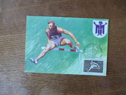 XXes JEUX OLYMPIQUES MUNICH 1972 CARTE PREMIER JOUR ATHLETISME - Jeux Olympiques