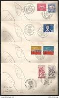 World Refugee Year 1960 4 Envelopes, Common Edition Switzerland, Liechtenstein, Italy. - Refugees