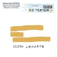 Vignette Lisa DD 0.97€ Lettre Verte Neopost Sur Env Permanence Brice Hortefeux Clermont-Ferrand - 2000 «Avions En Papier»