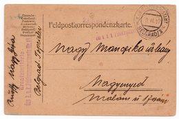 1917. WWI AUSTRIAN OCCUPATION OF SERBIA,CENSORED,KUK MILITARY POST,NO STAMP,POSTAMT BELGRADE POSTMARK - Storia Postale