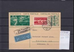 Schweiz Michel Cat.No. Air Mail Postal Stat 159I + 257 - Posta Aerea