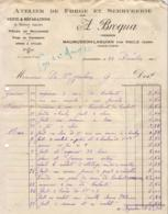 FORGE ET SERRURERIE BROQUA A MAUMUSSON LAGUIAN PAR RISCLE         .......... FACTURE DE 1925 - France