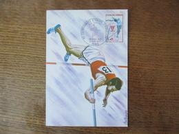 CHAMPIONNAT D'EUROPE D'ATHLETISME DES JUNIORS PARIS SAUT A LA PERCHE CARTE PREMIER JOUR 11 SEPT. 1970 1971 - Athlétisme