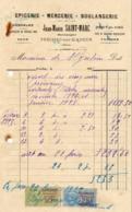EPICERIE BOULANGERIE SAINT MARC A PRECHAC SUR ADOUR    .......... FACTURE De 1925 - Alimentaire