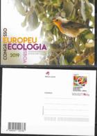 PORTUGAL ,2019, MINT POSTAL STATIONERY, PREPAID POSTCARD, BIRDS, EUROPEAN ECOLOGY CONGRESS - Uccelli