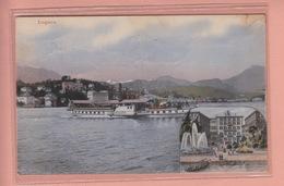 OLD POSTCARD - SWITZERLAND - SCHWEIZ -    LUGANO - HOTEL SCHWEIZERHOF  1919 - SHIP - DAMPFER ' MILANO ' - TI Tessin