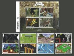 GB 2020 VIDEO GAMES LAURA CROFT WIPEOUT LEMMINGS ANIMATION SET & M/SHEET MNH - 1952-.... (Elizabeth II)