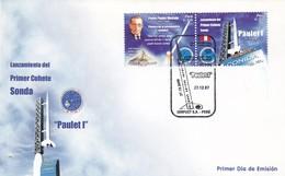 "LANZAMIENTO DEL PRIMER COHETE SONDA ""PAULET I"". PERU 2007 FDC PRIMER DIA DE EMISION -LILHU - Cartas"
