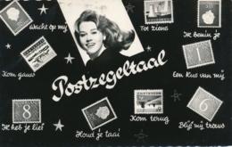 Nederland - 1966 - 10 Cent Landschap Op Postkaart Postzegeltaal - Briefmarken (Abbildungen)