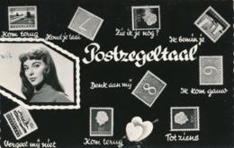 Nederland - 1966 - 10 Cent Landschap Op Postkaart Postzegeltaal - Timbres (représentations)