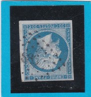 N° 14 A   PC  886   CLERMONT-FERRAND ( 62 )  PUY DE DOME   - REF 12914 + Fond Ligné - 1853-1860 Napoléon III.