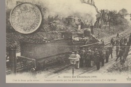 C. P. - GREVE DES CHEMINOTS - 1910 - REPRODUCTION - CARTES D'AUTREFOIS - D. R. - EVENEMENTS ET CURIOSITES - PARIS - ILE - Grèves