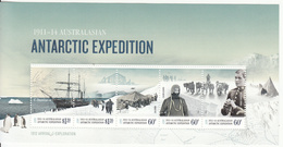 2012 Australian Antarctic Territory Expedition Ships Penguins Dogs Souvenir Sheet MNH - Nuovi
