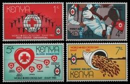 Kenia 1985 - Mi-Nr. 326-329 ** - MNH - Rotes Kreuz / Red Cross - Kenia (1963-...)