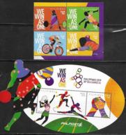 PHILIPPINES, 2019, MNH,SPORTS, SEA GAMES, CYCLING, BADMINTION, TENNIS, 4v+S/SHEET - Cycling