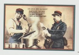 4 Bloc-feuillet Vignette Philaposte 2014 - Poste Des Armées, Le Conscrit, Joyeux Noel - Documenti Della Posta