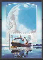 2012 British Antarctic Territory HMS Protector Ships Maps Souvenir Sheet MNH - Ungebraucht