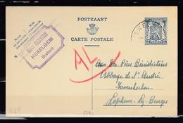 Postkaart Van Hekelgem Naar Lophem - 1935-1949 Petit Sceau De L'Etat