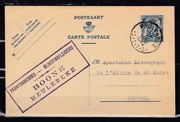 Postkaart Van Meulebeke Naar Bruges - 1935-1949 Petit Sceau De L'Etat