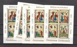 Liechtenstein ** Block 8 Minnesänger Mehrfach Katalog  15,00 - Unused Stamps