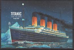 2012 Jersey Titanic Ships Souvenir Sheet  MNH @ BELOW FACE VALUE - Jersey