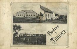 Slovakia, TUROVCE, Multiview, Obecna Skola (1905) Postcard - Slowakei
