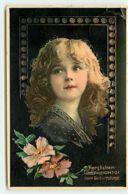 N°14240 - Carte Gaufrée - Herzlichen Glückwunsch Zum Geburstage - Portrait D'une Fillette - Grete Reinwald - Fêtes - Voeux