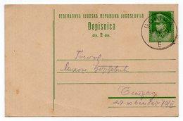 1948 YUGOSLAVIA, SLOVENIA, GORICA TO BELGRADE, 2 DIN TITO, STATIONERY CARD, USED - Enteros Postales